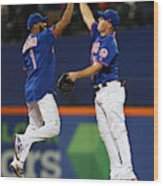 New York Yankees v New York Mets Wood Print