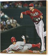 Nick Ahmed and Freddy Galvis Wood Print