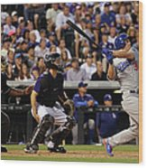 Nick Hundley and Joc Pederson Wood Print