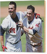 Nick Swisher and Jason Kipnis Wood Print
