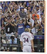Noah Syndergaard And Chase Utley Wood Print