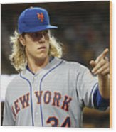 Noah Syndergaard Wood Print