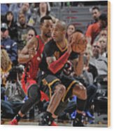 Norman Powell and Dahntay Jones Wood Print