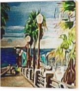 Oceanside Peir Wood Print
