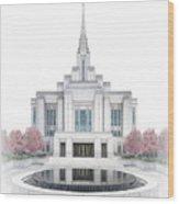 Ogden Temple - Celestial Series Wood Print