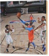 Oklahoma City Thunder v Boston Celtics Wood Print