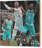 Oklahoma City Thunder v Charlotte Hornets Wood Print