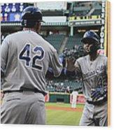 Omar Infante and Billy Butler Wood Print