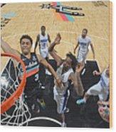 Orlando Magic vs. San Antonio Spurs Wood Print
