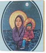 Our Lady of the Journey Wood Print