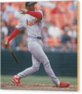 Ozzie Smith Wood Print