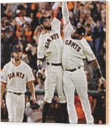 Pablo Sandoval and Brandon Belt Wood Print