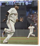 Pablo Sandoval And Brandon Crawford Wood Print