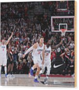Patrick Beverley and Blake Griffin Wood Print