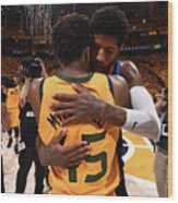 Paul George and Donovan Mitchell Wood Print