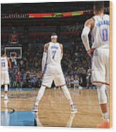 Paul George, Carmelo Anthony, and Russell Westbrook Wood Print
