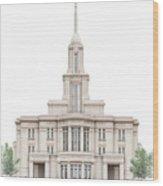 Payson Temple - Celestial Series Wood Print