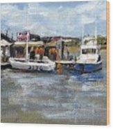 Pearson's Port Crab Shack Wood Print