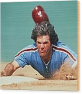 Pete Rose Wood Print