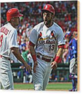 Peter Bourjos and Matt Carpenter Wood Print