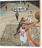 Phoenix Suns v Brooklyn Nets Wood Print