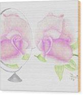 Pink Reflection Wood Print