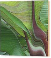 Plantflow Wood Print