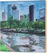 Pon de River Wood Print
