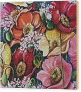 Poppies Delight Wood Print