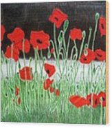 Poppies Wood Print