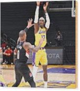 Portland Trail Blazers v LA Lakers Wood Print