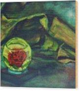 Preserved Rose . . Draped Canvas Wood Print