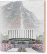 Provo Temple - Celestial Series Wood Print