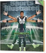 QB One of a Kind Russell Wilson Sports Illustrated Cover Wood Print