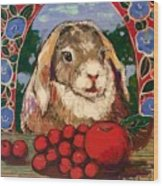 Rabbit and reds Wood Print