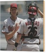 Randy Johnson and Miguel Montero Wood Print