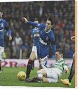 Rangers v Celtic - Ladbrokes Scottish Premiership - Ibrox Stadium Wood Print