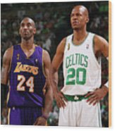 Ray Allen and Kobe Bryant Wood Print
