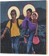 Refugees La Sagrada Familia Wood Print