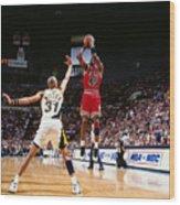 Reggie Miller and Michael Jordan Wood Print