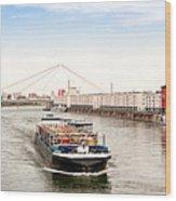 Rhine (Rhein) - Ludwigshafen - Mannheim Wood Print