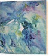 Ridges Of Spring Light 6x6 Acrylic Watercolor #2 Wood Print