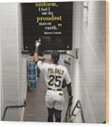 Roberto Clemente and Gregory Polanco Wood Print