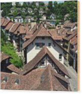 Rooftops of Medieval Bern, Switzerland Wood Print