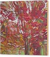 Rowan tree Wood Print
