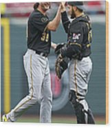 Russell Martin and Jason Grilli Wood Print