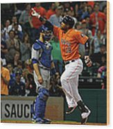 Russell Martin and Luis Valbuena Wood Print