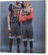 Russell Westbrook and Anthony Davis Wood Print