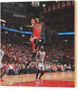 Russell Westbrook and James Harden Wood Print