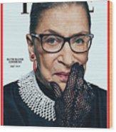 Ruth Bader Ginsburg 1933-2020 Wood Print